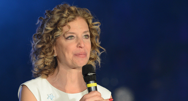WASHINGTON, DC - JANUARY 19: Florida Representative Debbie Wasserman Schultz (D-FL) speaks onstage at the Inaugural Youth Ball hosted by OurTime.org on January 19, 2013 in Washington, United States. (Photo by Stephen Lovekin/Getty Images for OurTime.org)